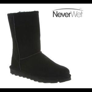 BEARPAW Nevet Wet Black Elle Short Low Boot sz 8